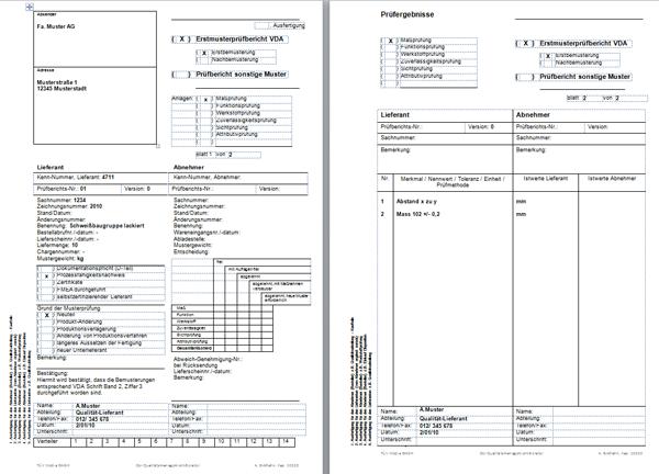 diese arbeitshilfe dient als muster fr die erstfreigabe eines musters - Lieferantenbewertung Muster